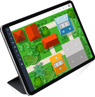 Tablet showing searchable garden plans